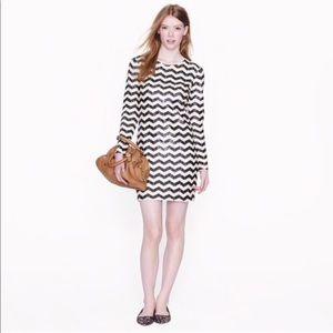 Jcrew sequined striped dress XS
